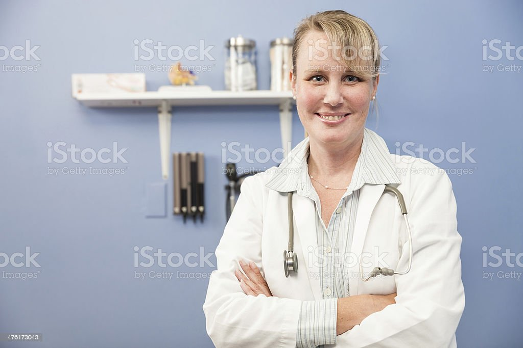 Friendly Woman Doctor royalty-free stock photo