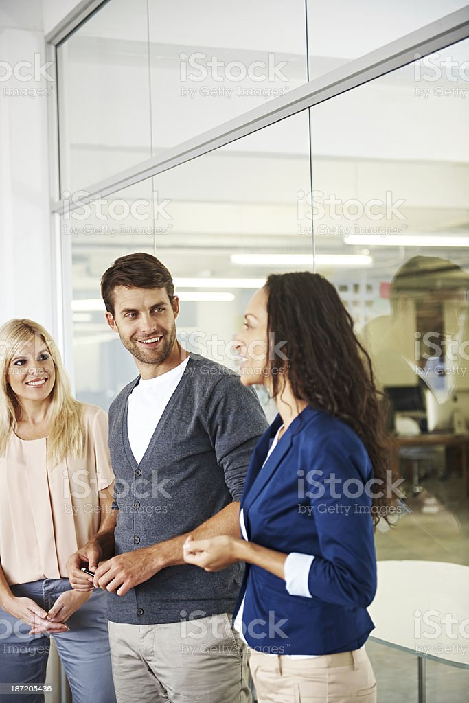 Friendly work ethic royalty-free stock photo
