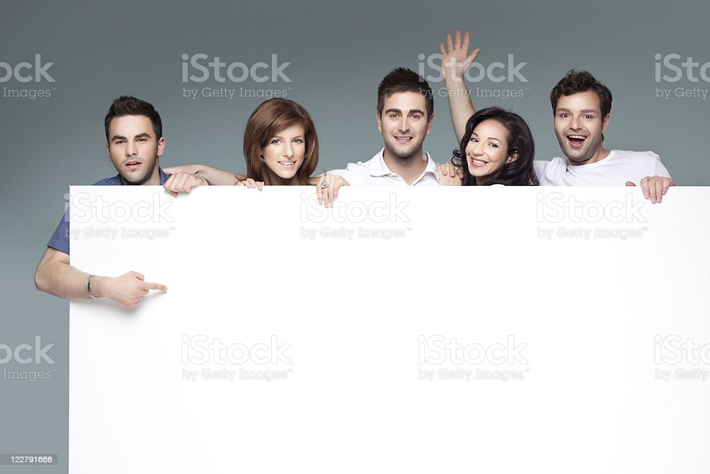 friends advertising white board royalty-free stock photo