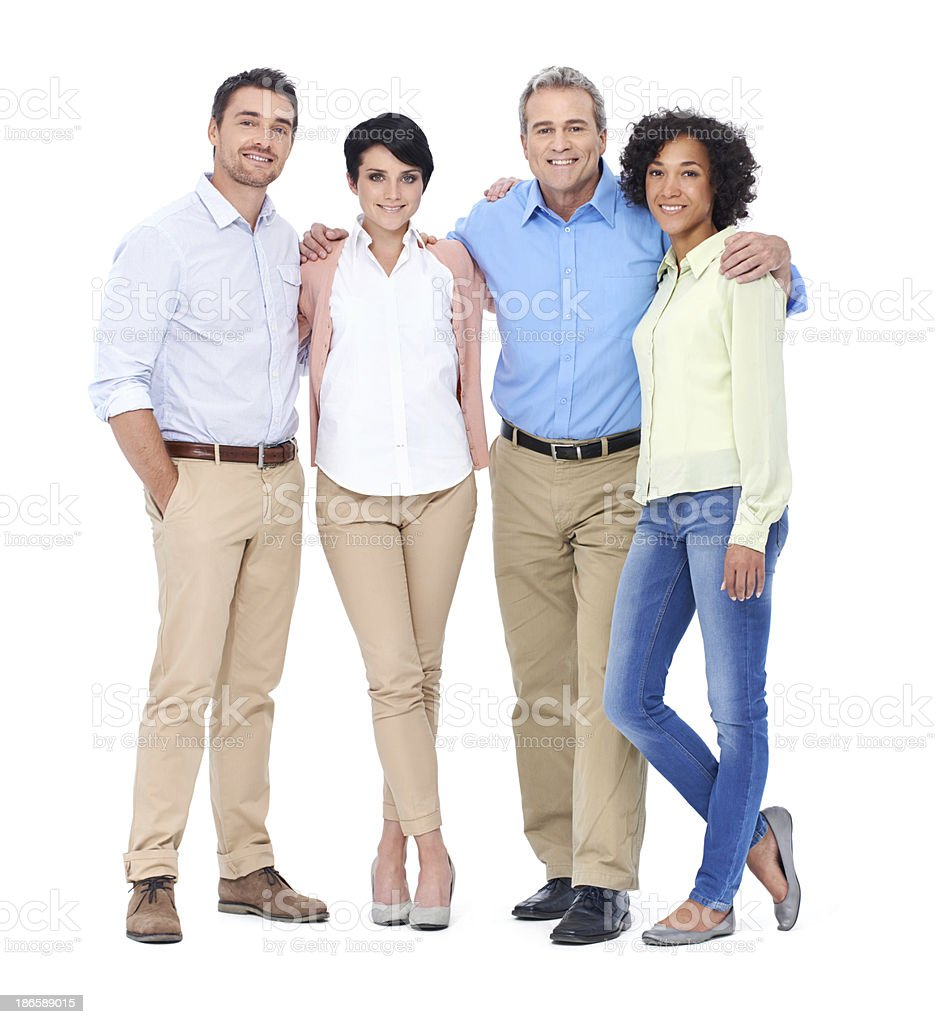 Friends and colleagues royalty-free stock photo