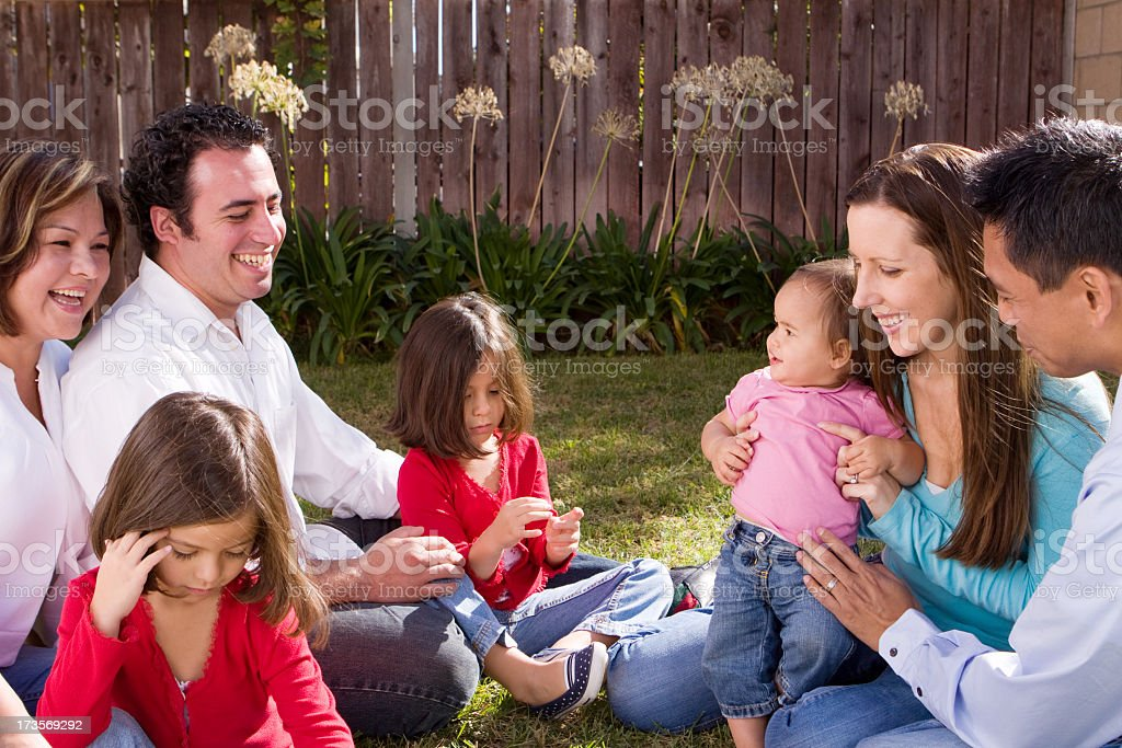 Friends and Family Hanging Out royalty-free stock photo