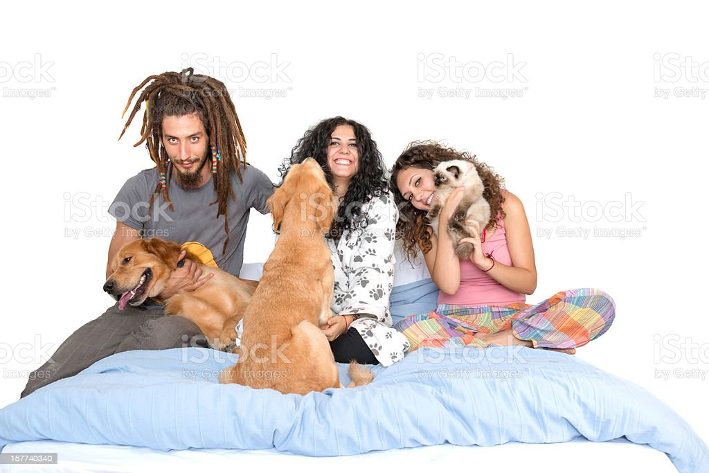 friends and pets royalty-free stock photo