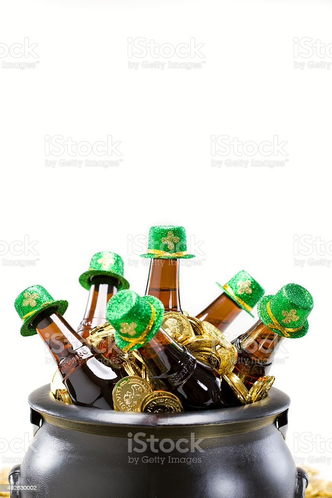 Friends and St. Pattys Day stock photo