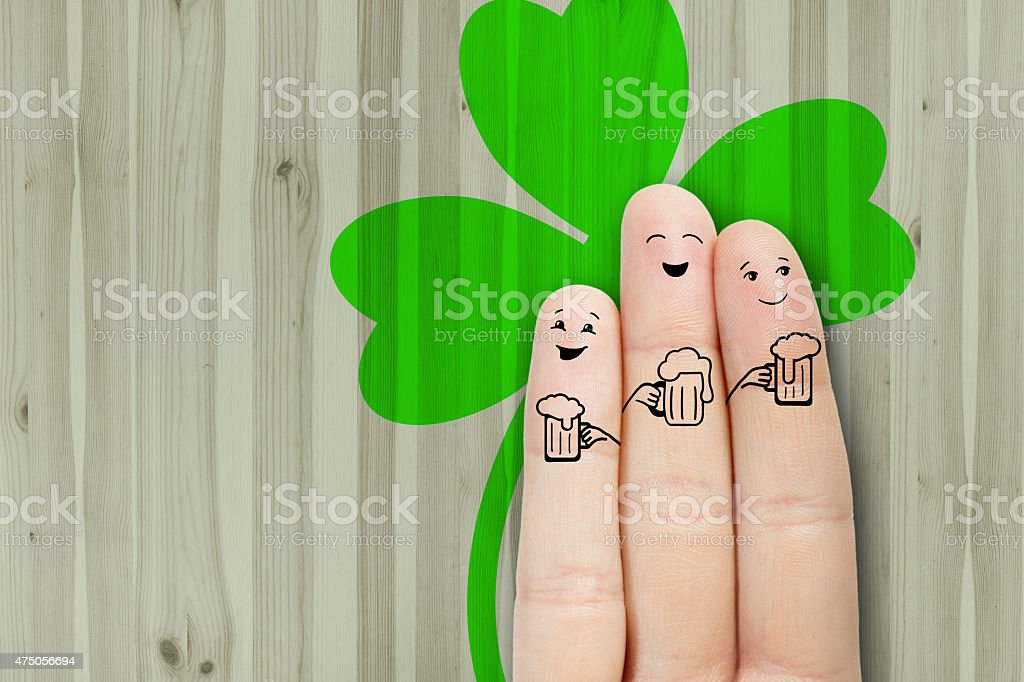 friends are embracing and drinking beer. stock photo