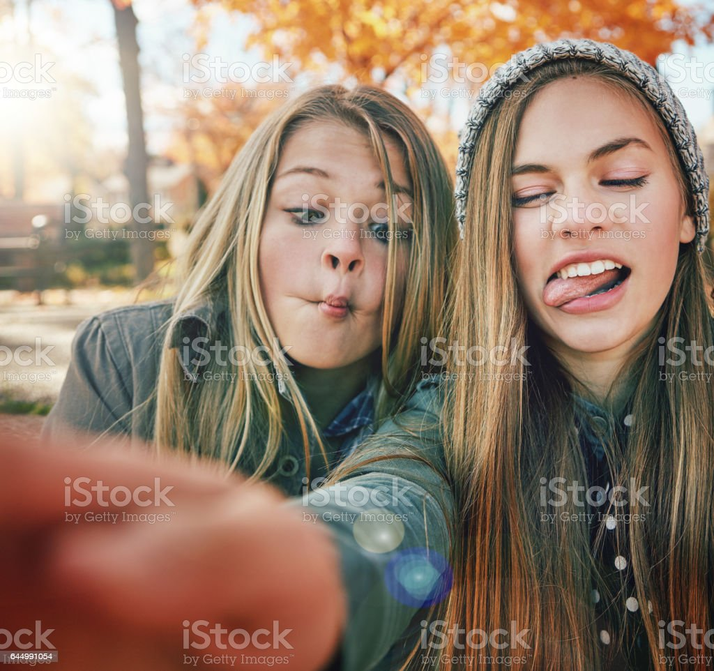 Friends are the people you can be crazy with stock photo