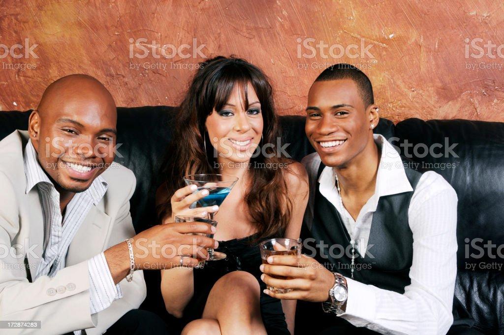 Friends at a Bar royalty-free stock photo