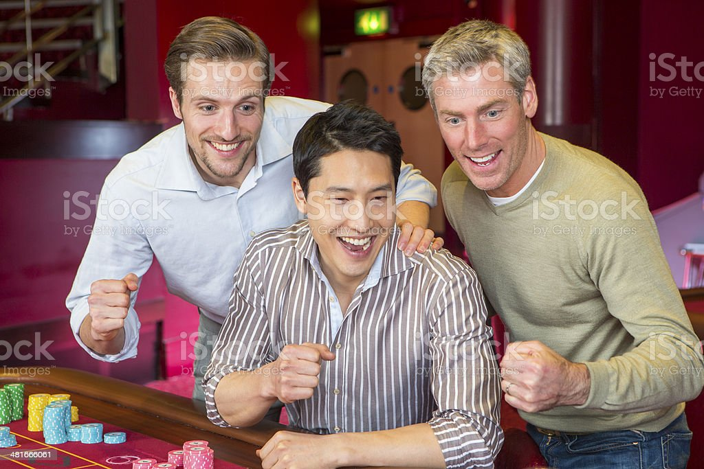 Friends at a Casino royalty-free stock photo