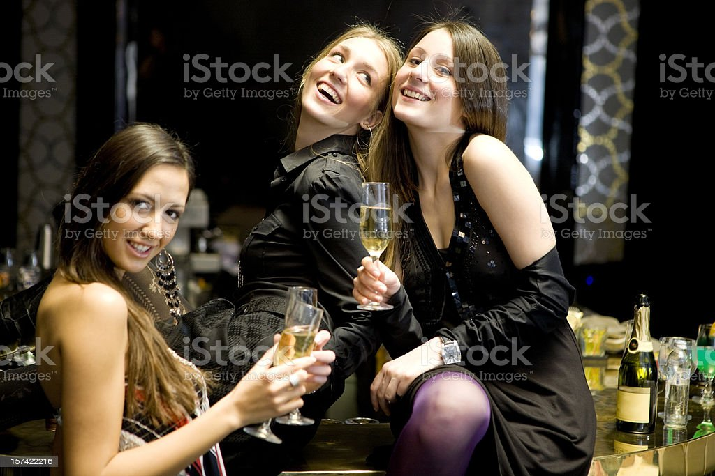 Friends at bar royalty-free stock photo