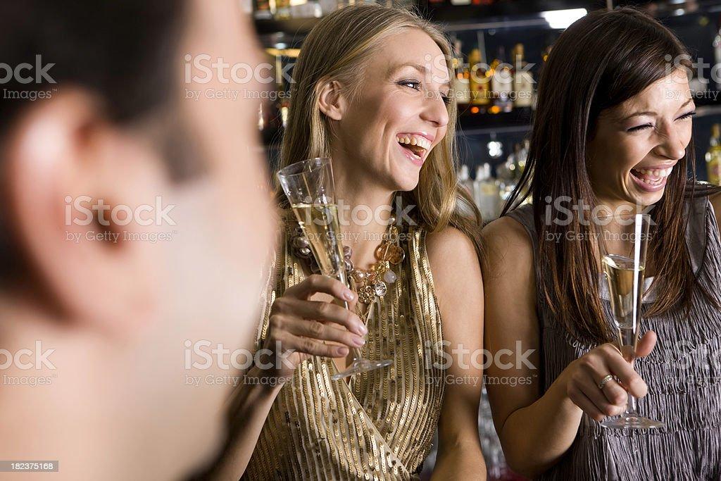 Friends at bar royalty-free stock photo