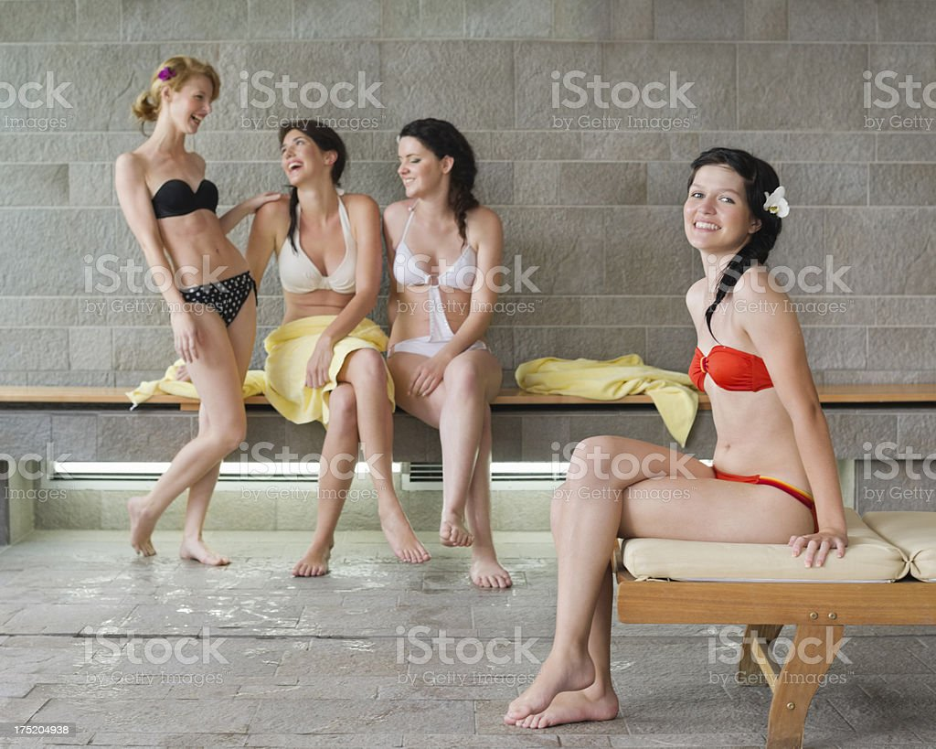 Friends At Health Spa royalty-free stock photo