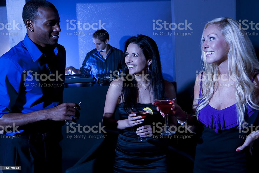 Friends at Nightclub royalty-free stock photo