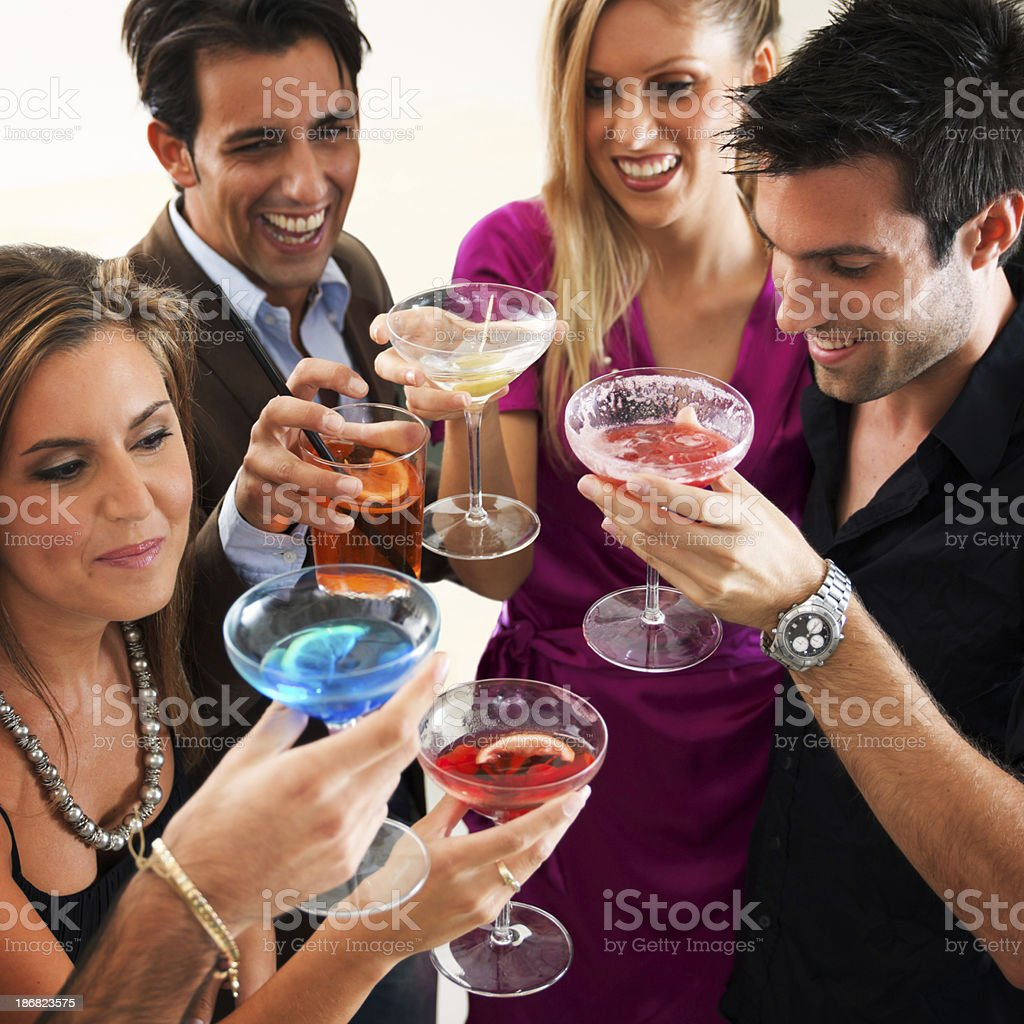 Friends At Party Toasting royalty-free stock photo