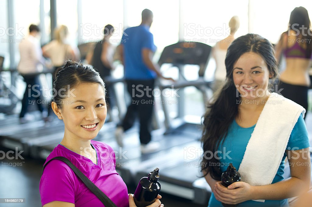 friends at the gym royalty-free stock photo