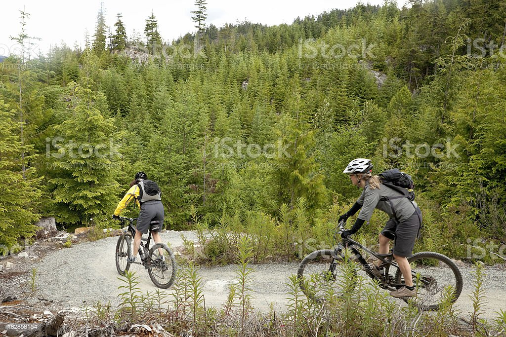 friends biking together. royalty-free stock photo