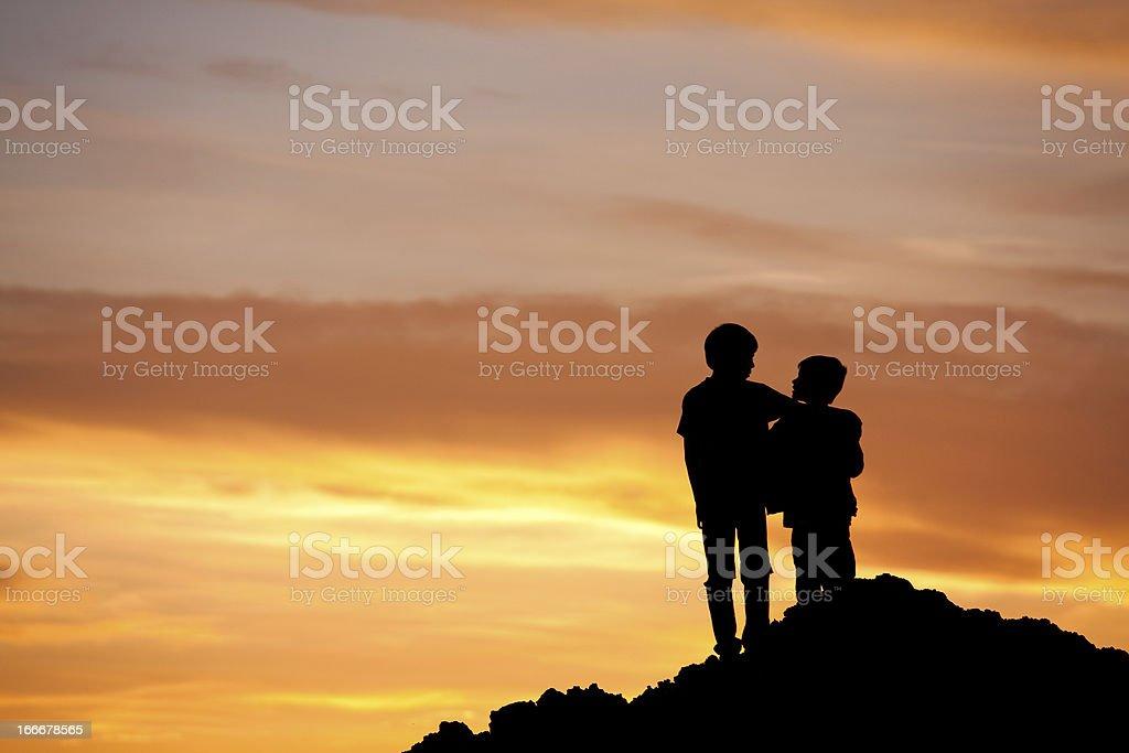 Friends Bonding royalty-free stock photo