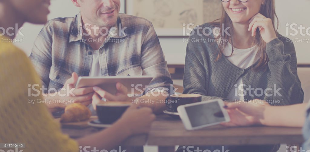 Friends Brainstorming Discussion Ideas Planning Concept stock photo