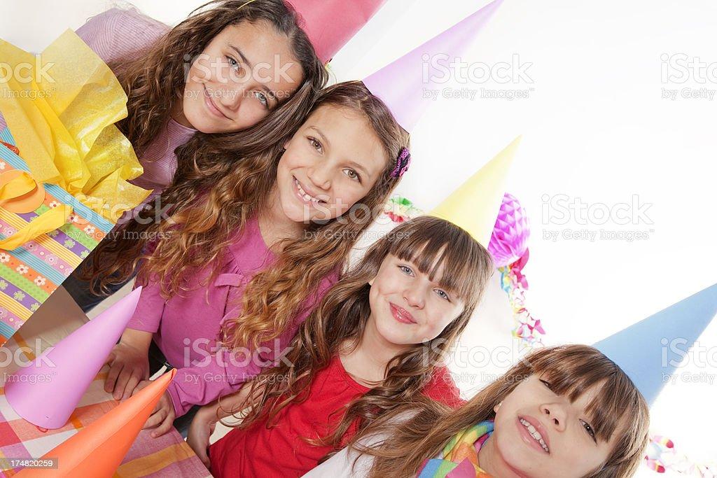 Friends Celebrating Birthday royalty-free stock photo