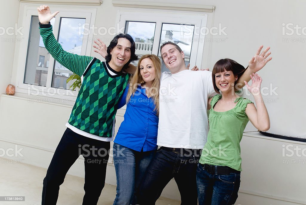 Friends celebrating royalty-free stock photo