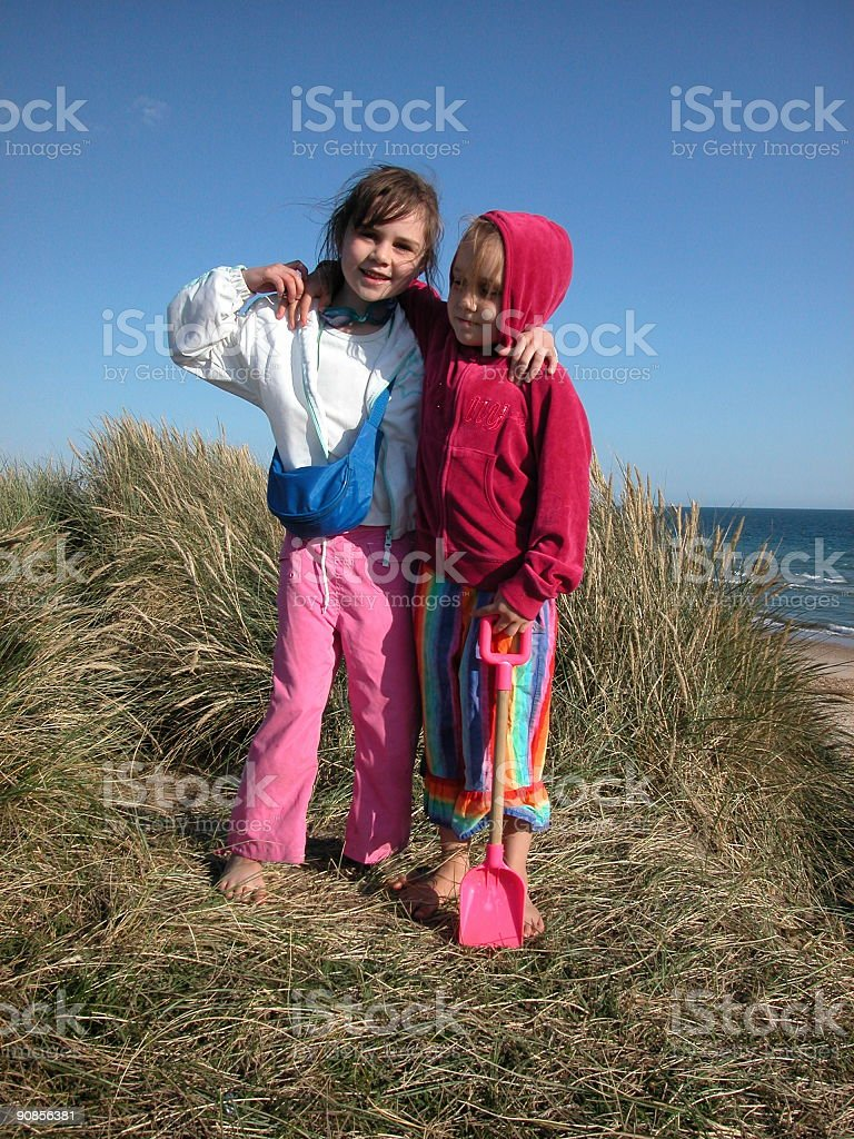 Friends childhood royalty-free stock photo
