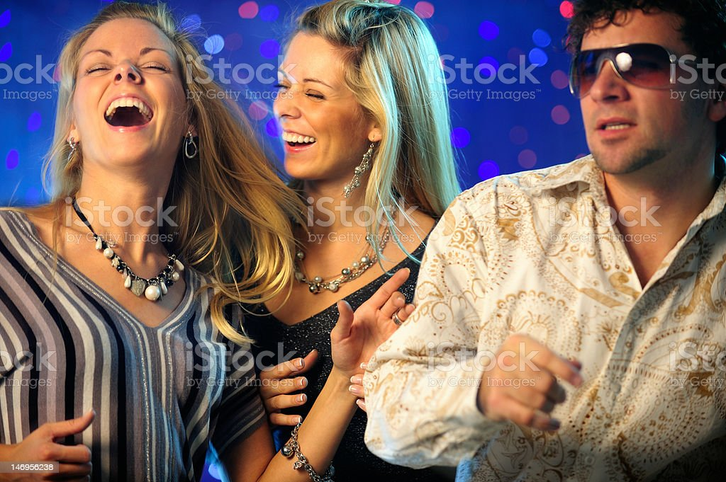 Friends clubbing royalty-free stock photo