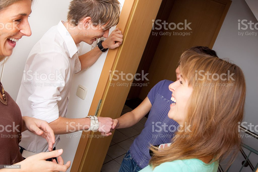 friends coming over for a visit royalty-free stock photo