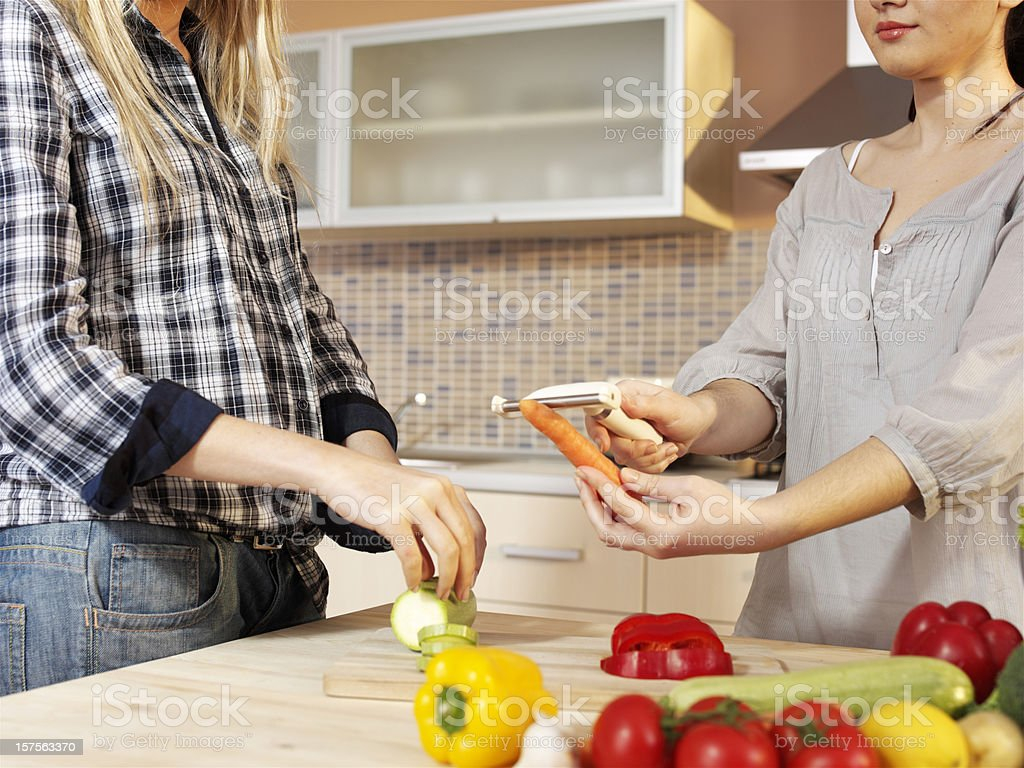 friends cooking royalty-free stock photo