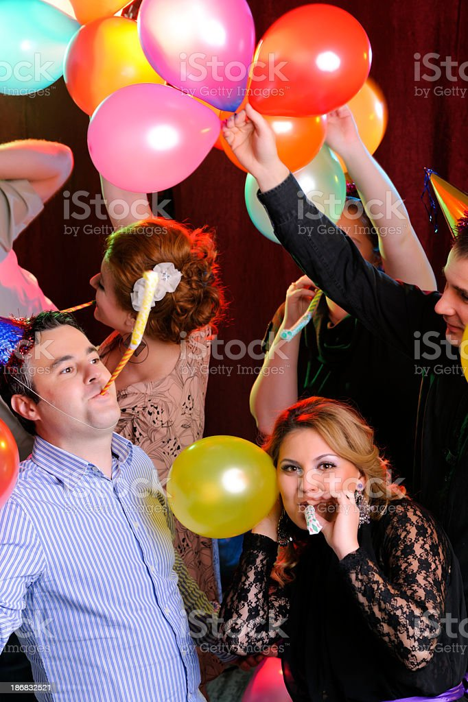 friends dancing stock photo