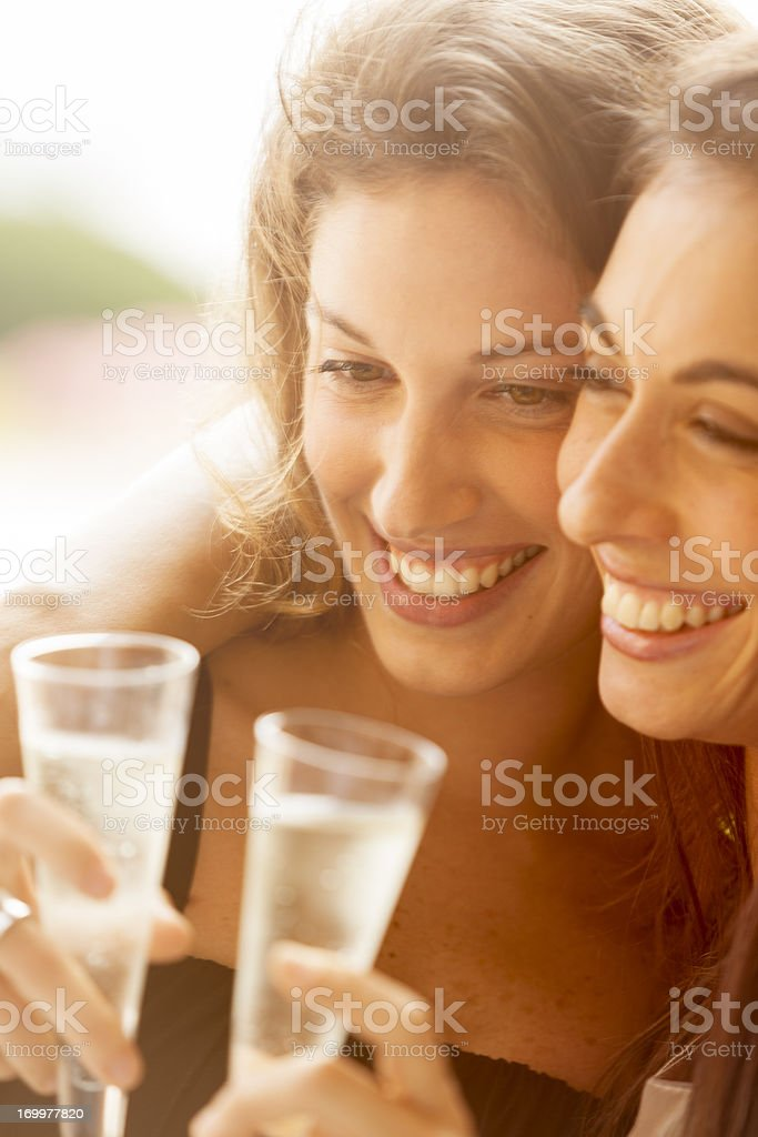 Friends drinking Champagne royalty-free stock photo