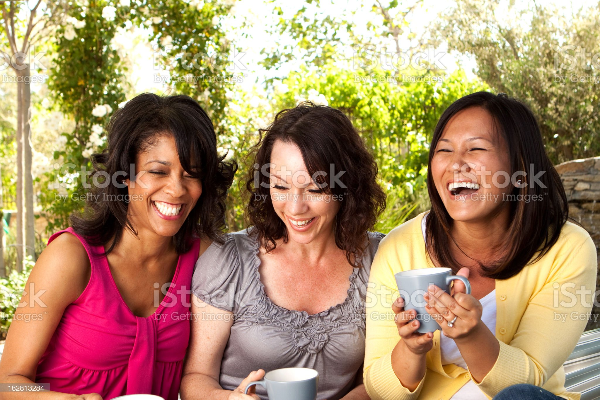 Friends Drinking Coffee royalty-free stock photo