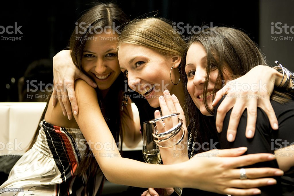 Friends embracing royalty-free stock photo