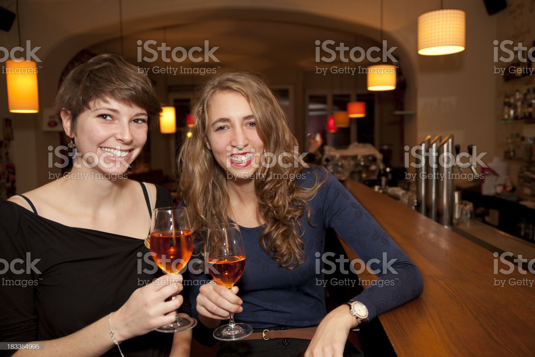 Friends Enjoying Drinks After Work royalty-free stock photo