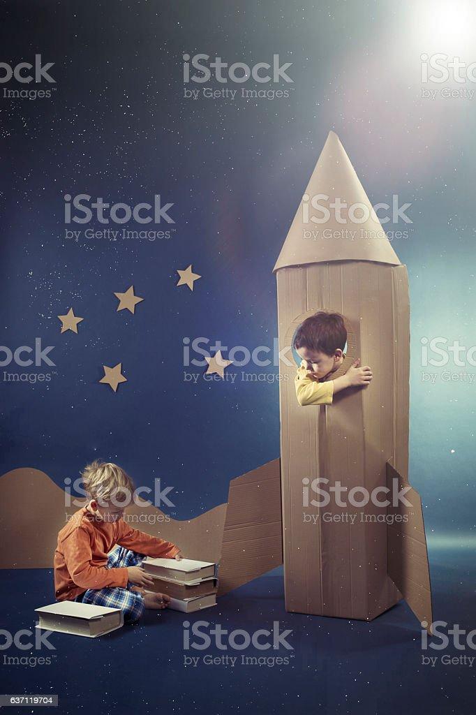 Friends enjoying their dreams stock photo