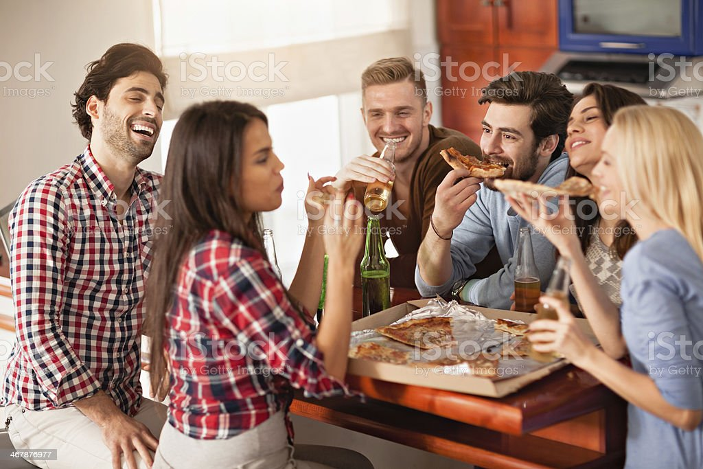 Friends enjoying time together stock photo