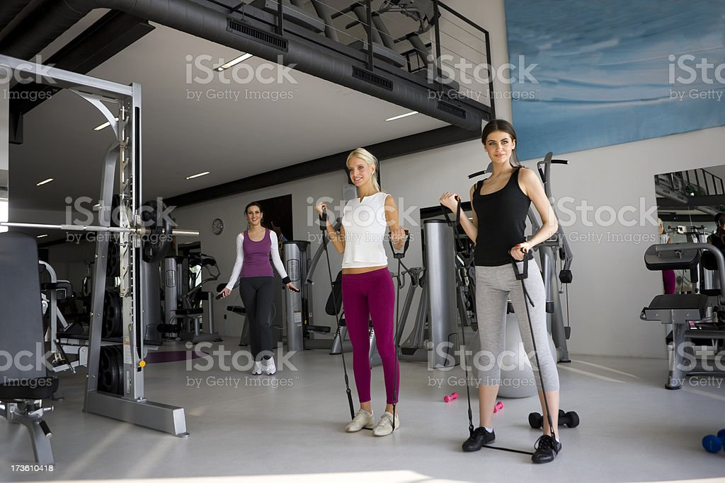 Friends exercising royalty-free stock photo