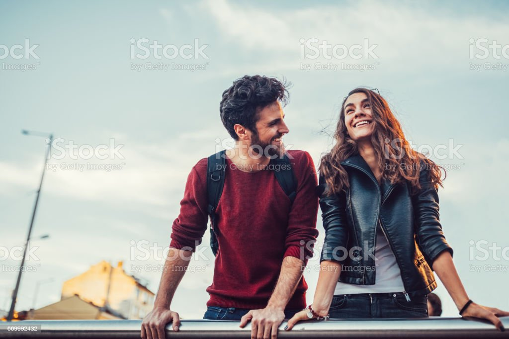 Friends falling in love stock photo