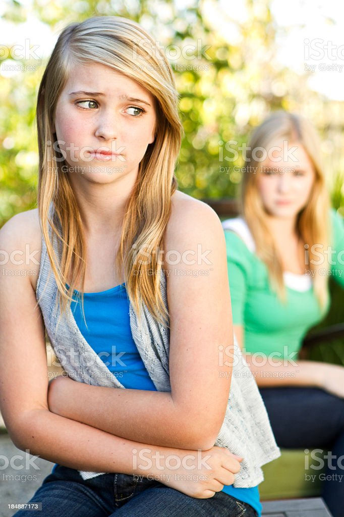 Friends Fighting royalty-free stock photo