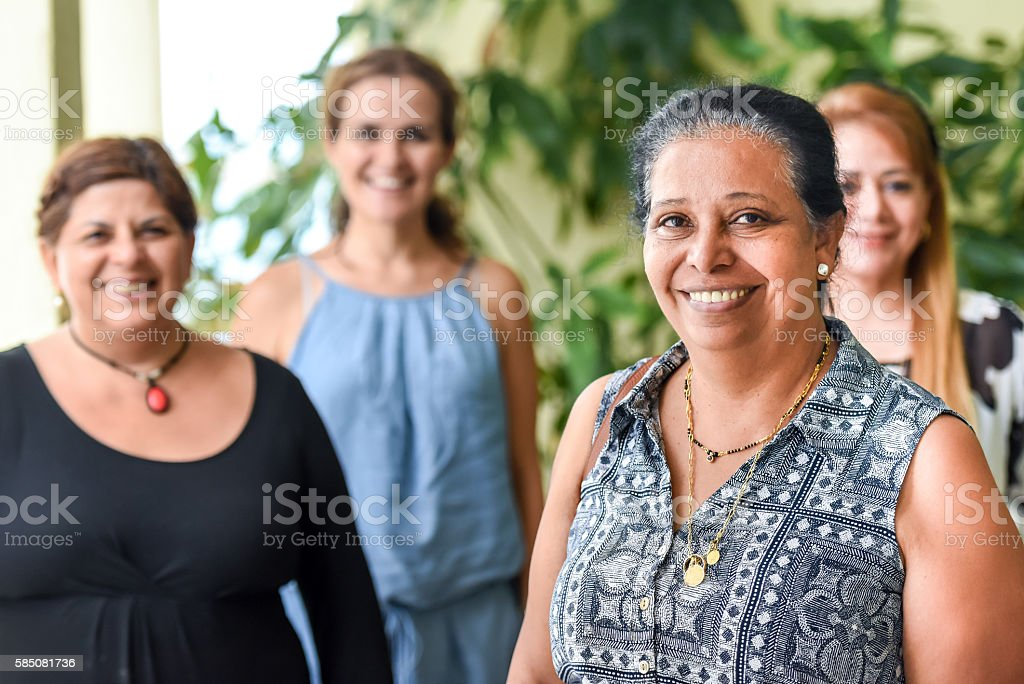 Friends from different background together stock photo