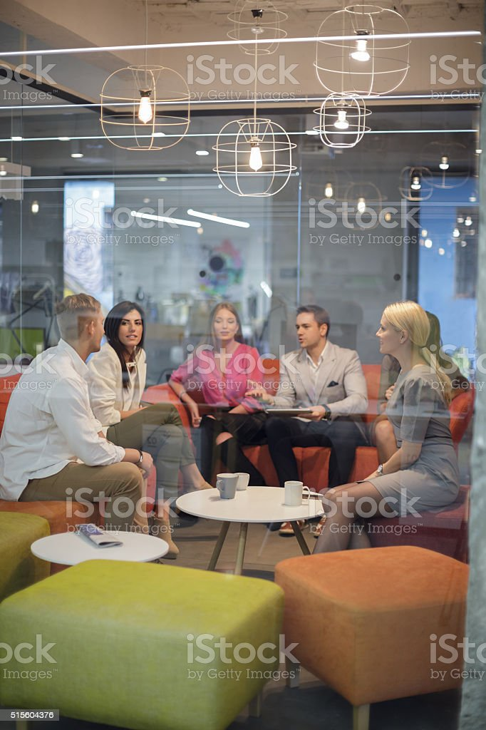 Friends getting together stock photo