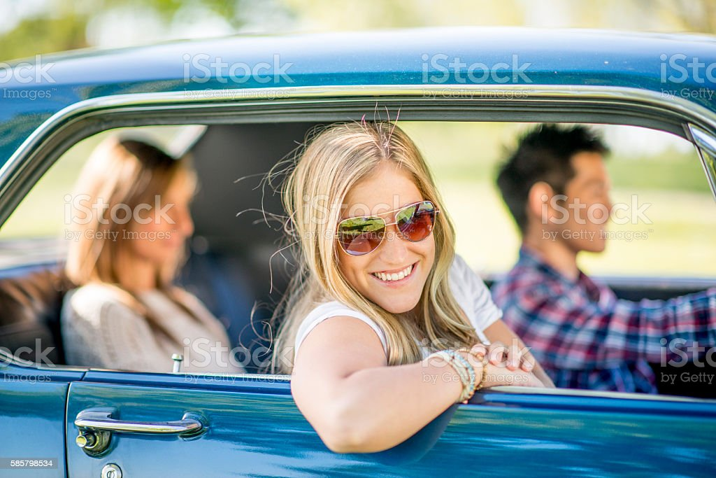 Friends Going on a Road Trip Together stock photo