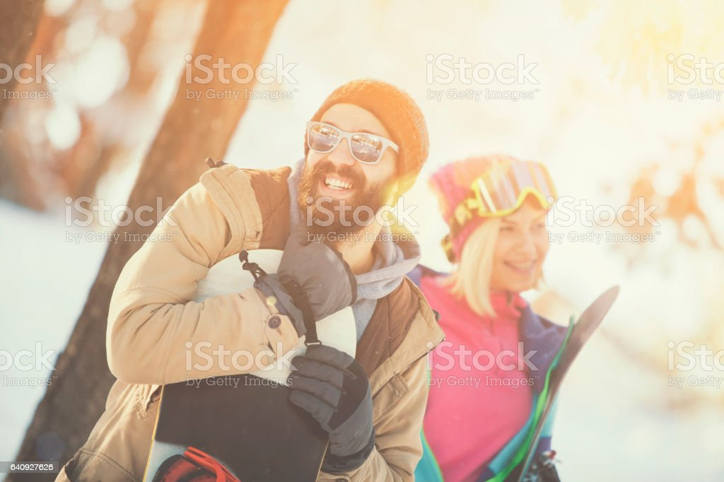 Friends going out for a ride stock photo
