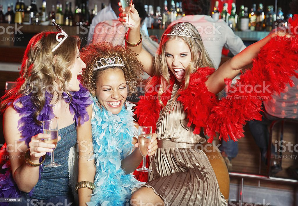 Friends hanging out at a club royalty-free stock photo