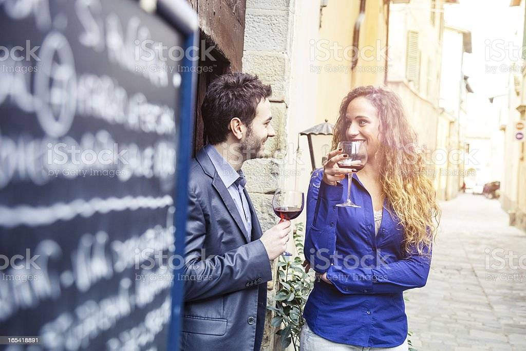 Friends - Happy Hour in Italy royalty-free stock photo
