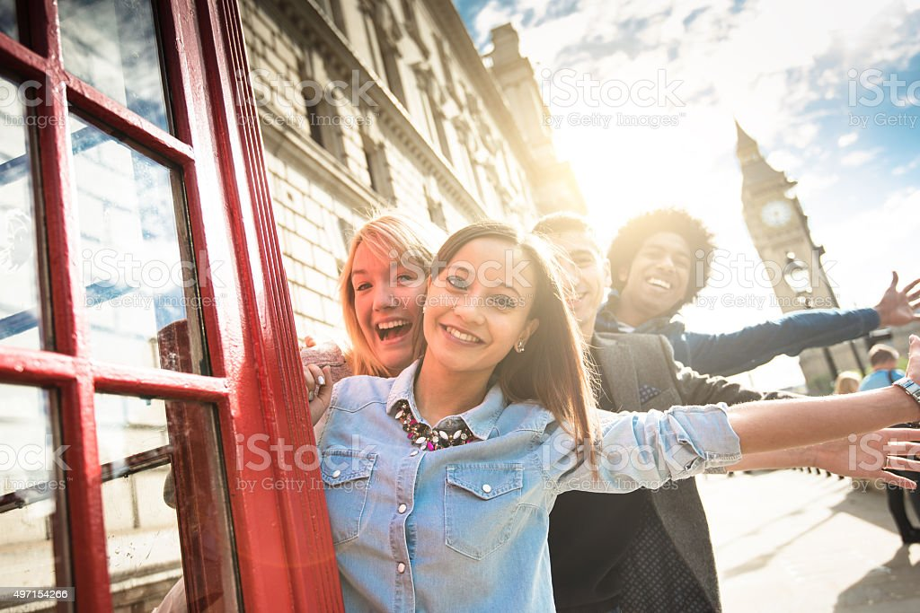 Friends have fun togetherness stock photo