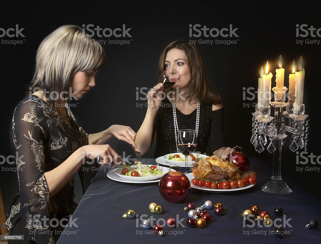 Friends Having a Dinner royalty-free stock photo