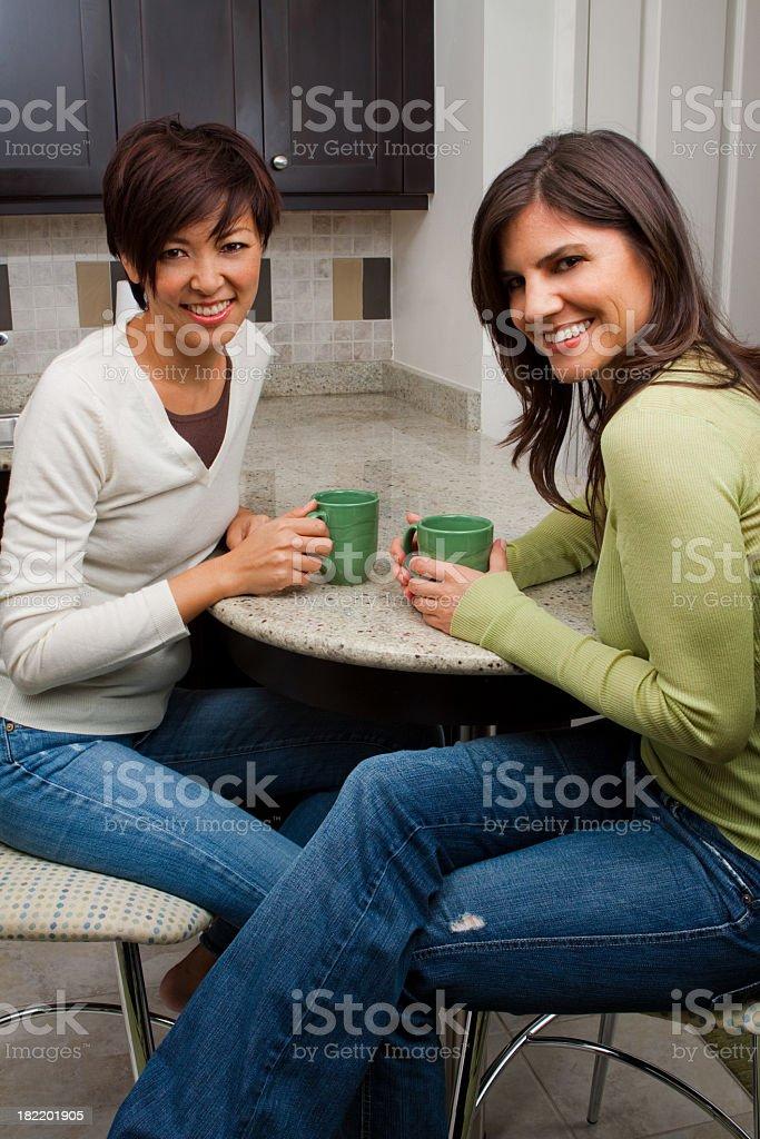 Friends Having Coffee royalty-free stock photo