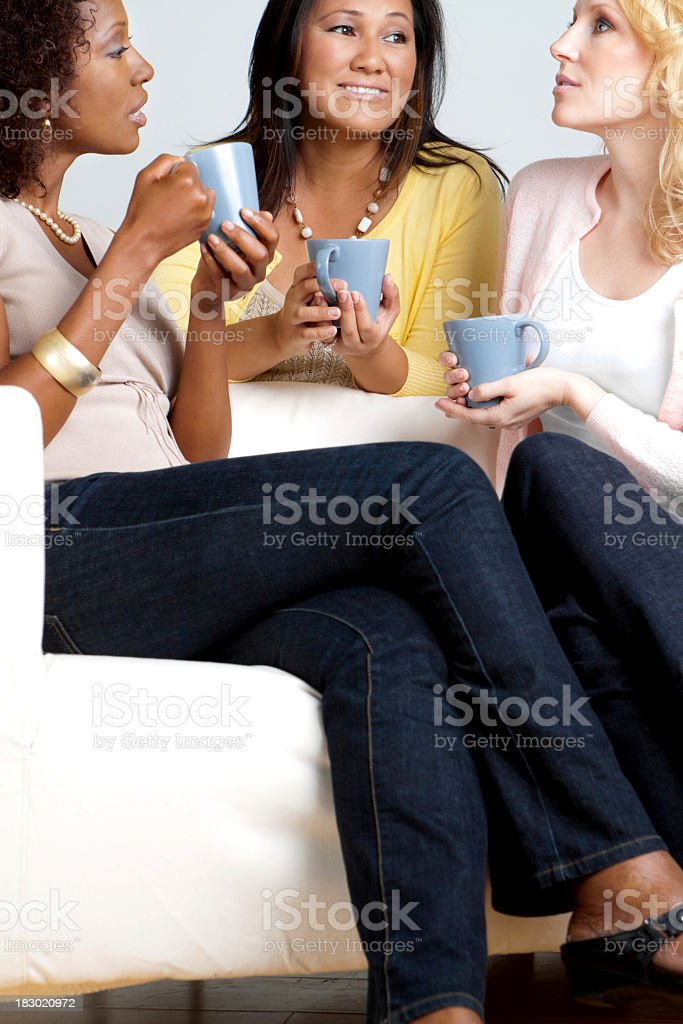 Friends Having Coffee royalty-free stock photo
