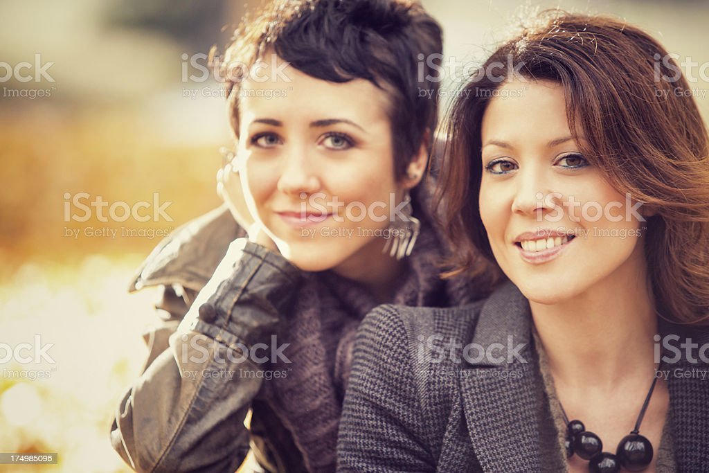 Friends having fun at the park royalty-free stock photo