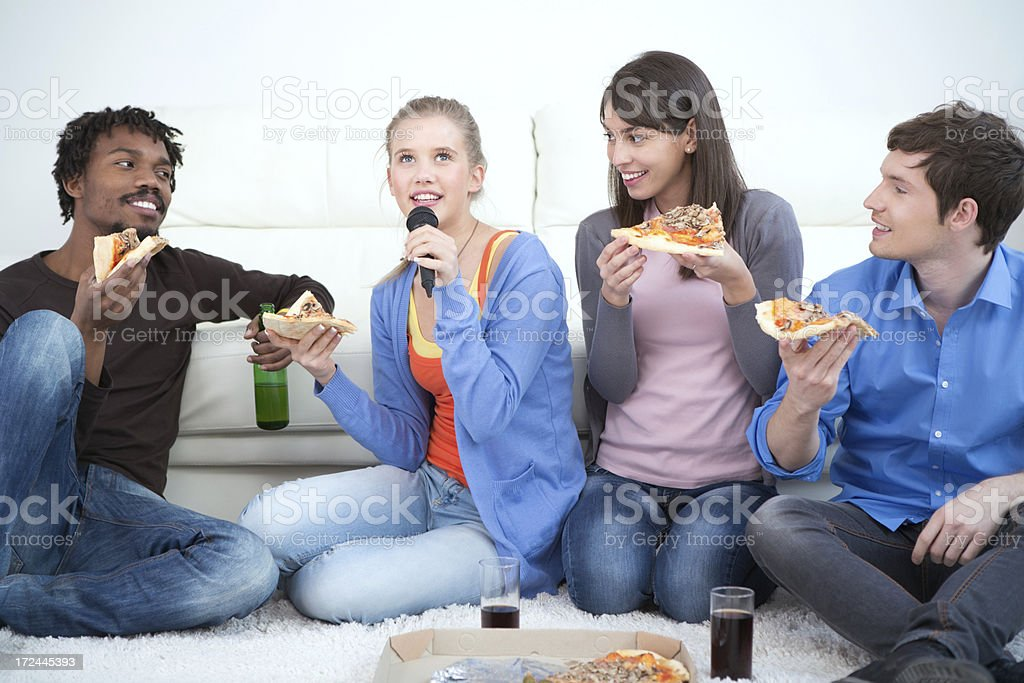 Friends having fun. royalty-free stock photo