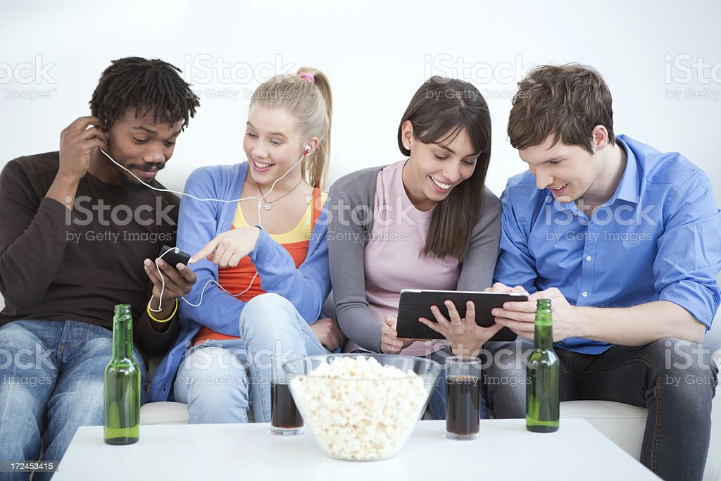 Friends having fun. stock photo