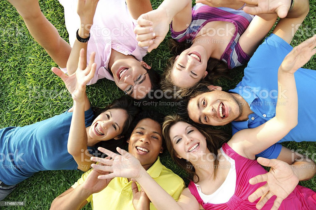 Friends having fun royalty-free stock photo